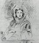 Полин Вийо в мавританском костюме.