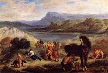 Картина Делакруа - Овидий у скифов
