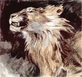 Живопись Эжена Делакруа - Голова льва