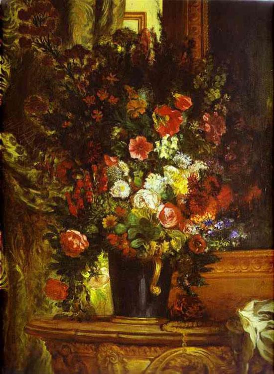 Ваза с цветами на столике