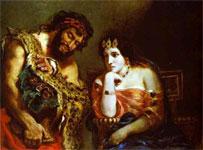 Картина Эжена Делакруа - Клеопатра и крестьянин