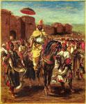 Портрет Эжена Делакруа - Портрет султана Марокко
