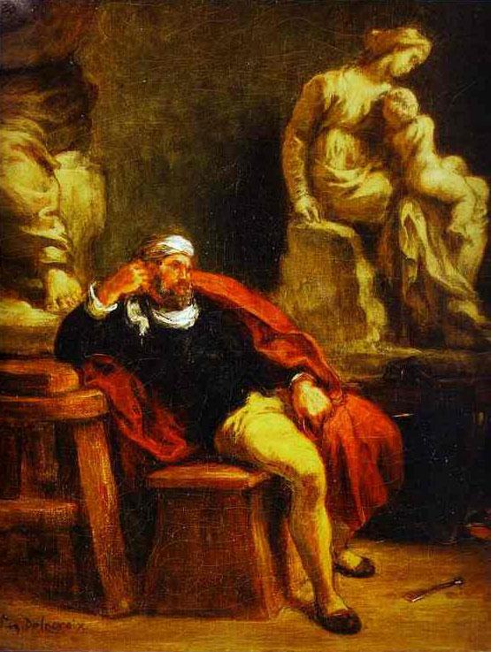 Микеланджело в своей мастерской