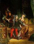 Портрет Делакруа - Карл VI и Одетта де Шандивер