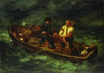 Работа Эжена Делакруа - После кораблекрушения