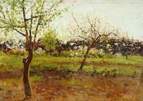 Цветущие яблони (И.И. Левитан)