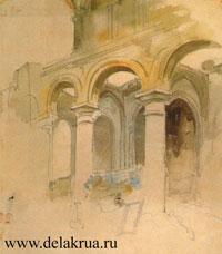 Развалины церкви в монастыре Валъмон