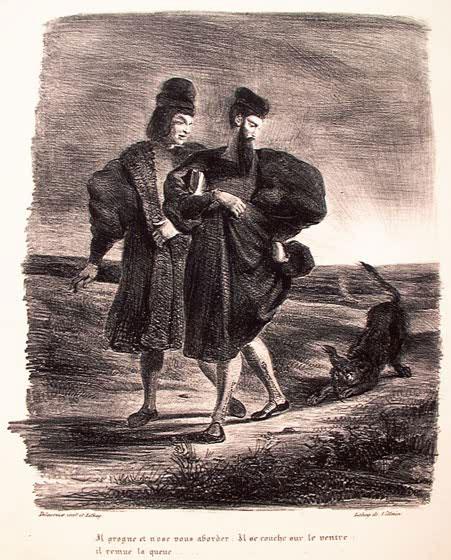 Фауст, Мефистофель и барбет.