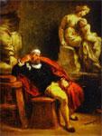 Портрет Делакруа - Микеланджело в своей мастерской