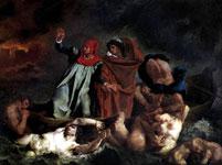 Работа Делакруа - Данте и Вергилий в Аду