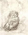 Эжен Делакруа. Поединок льва с тигром. (Набросок)