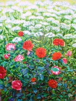 Живопись Розы в Саду