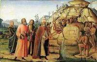 Св. Климент иссекает воду из скалы (Б. Фунгаи, 1498—1501 г.)
