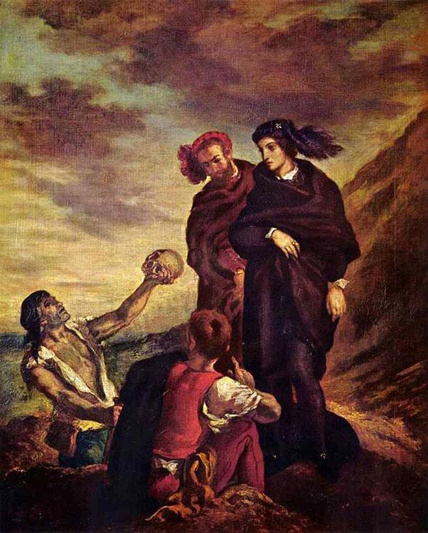 Гамлет и Горацио на кладбище