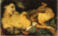 Умирающая мать и ее ребенок