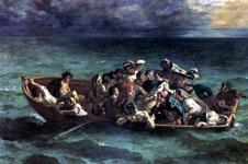 Картина Делакруа - Кораблекрушение Дон Жуана