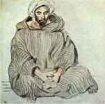 Эжен Делакруа. Силящий араб в Танжере. (Набросок)