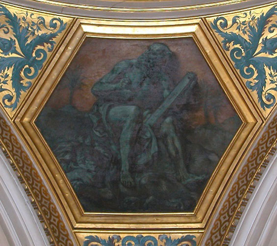 Богословие: Св. Иероним. (Роспись в Библиотеке Сената)
