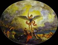 Эжен Делакруа. Святой Михаил побеждает дьявола