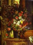 Живопись Делакруа - Ваза с цветами на столике