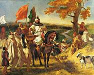 Делакруа. Марокканский шейх навещает свой клан