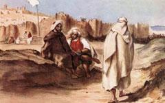 Живопись Эжена Делакруа - Арабы из города Алжира