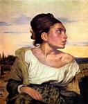Картина Делакруа - Сирота на кладбище