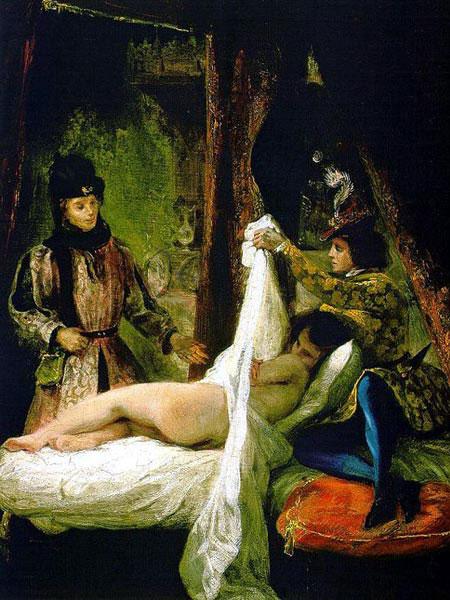 Луи Орлеанский, показывающий свою любовницу.