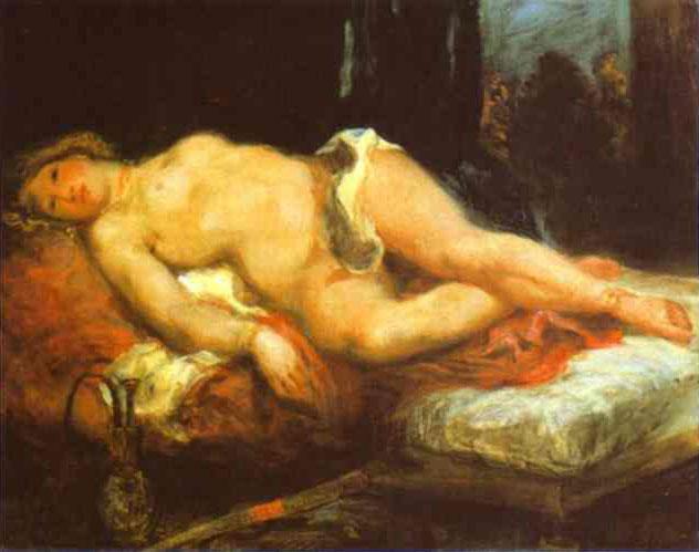Одалиска, отдыхающая на диване