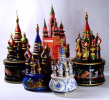 Соборы музыкальные (жостовская роспись)
