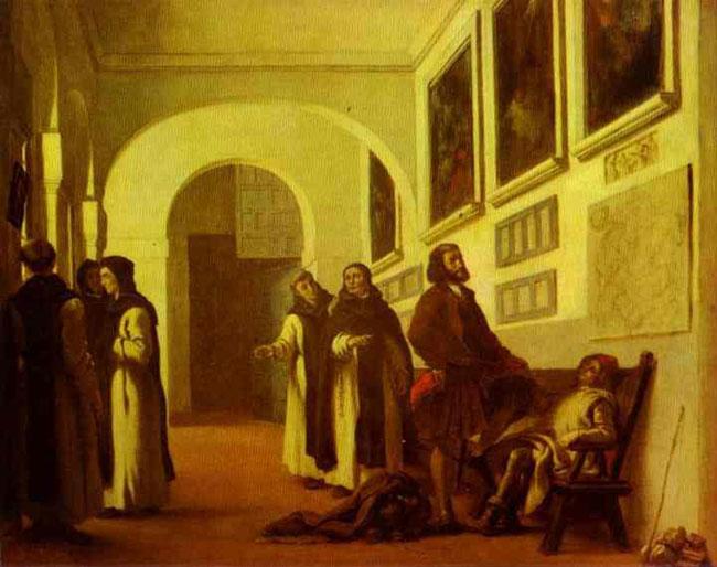 Колумб и его сын в Ла Рабида