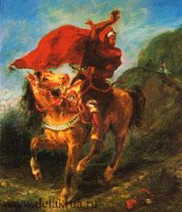 Арабский всадник, подающий сигнал