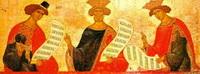 Пророки Даниил, Давид и Соломон (Новгородская иконопись 15 в.)
