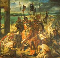 Взятие крестоносцами Константинополя (1840).