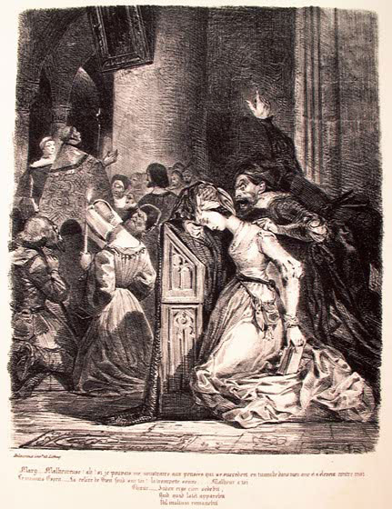 Маргарита в церкви.