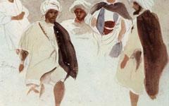 Эжен Делакруа. Арабы в Тетуане. (Набросок)