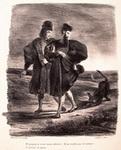 Делакруа. Фауст, Мефистофель и барбет