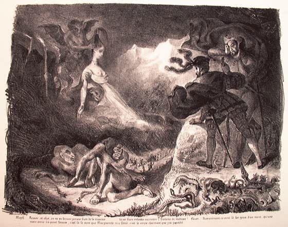 Тень Маргариты, явившаяся Фаусту.