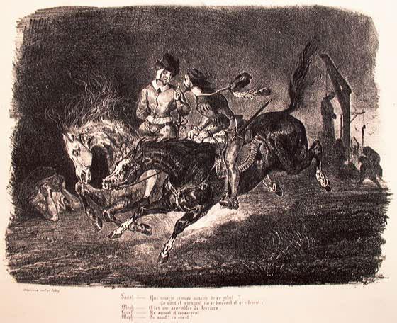 Фауст и Мефистофель, галопирующие в ночи.