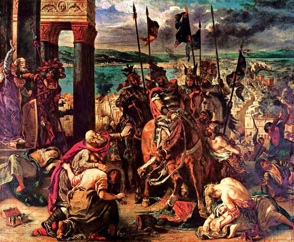 Взятие Константинополя крестоносцами (Эжен Делакруа)