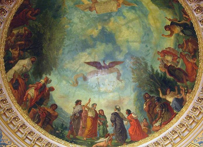 Лимб. (Роспись купола в Библиотеке Сената)