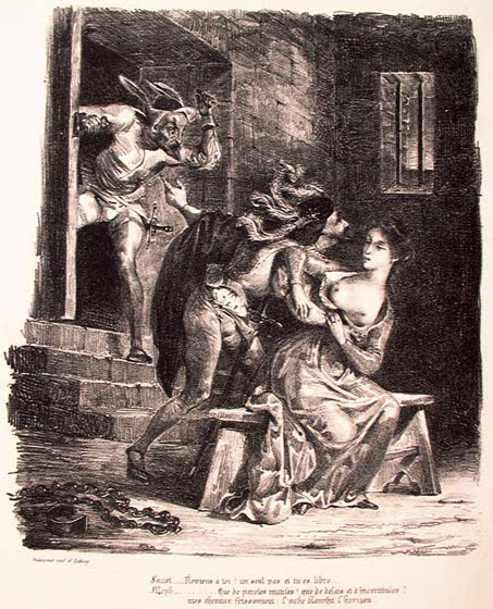 Фауст в тюрьме у Маргариты.
