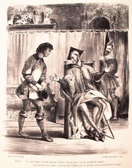 Мефистофель встречает студента.