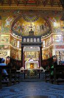 Мозаика. Каваллини в церкви. Санта-Мария-ин-Трастевере