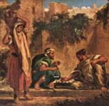 Живопись Делакруа - Арабы, играющие в шахматы