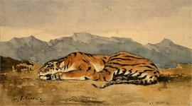 Живопись Эжена Делакруа - Тигр