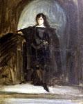 Портрет Делакруа - Автопортрет в костюме Гамлета