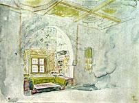 Делакруа. Комната с нишей во дворце султана Мекны