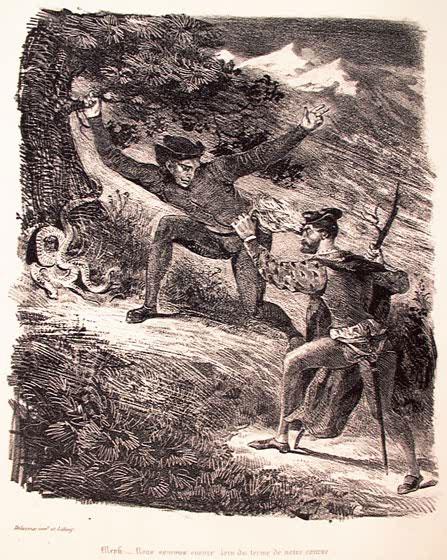 Фауст и Мефистофель в горах.